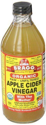 Braggs – Vinaigre de cidre organique – 473ml: Renforce la santé et la jeunesse de la peau Riche en enzymes et potassium Contribue à la…