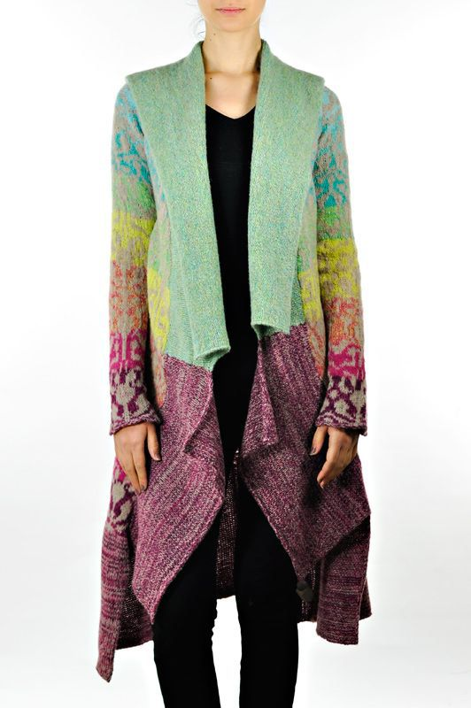 Long draped front Casmari cashmere sweater