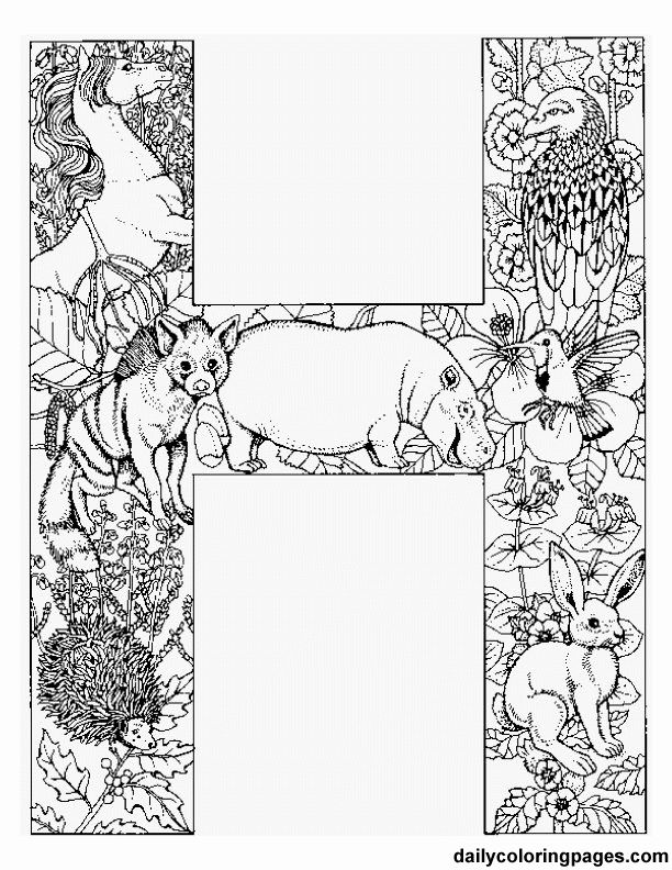Alphabet Animal Coloring Pages H In This Page You Can Find Free Printable Lot Of Collection