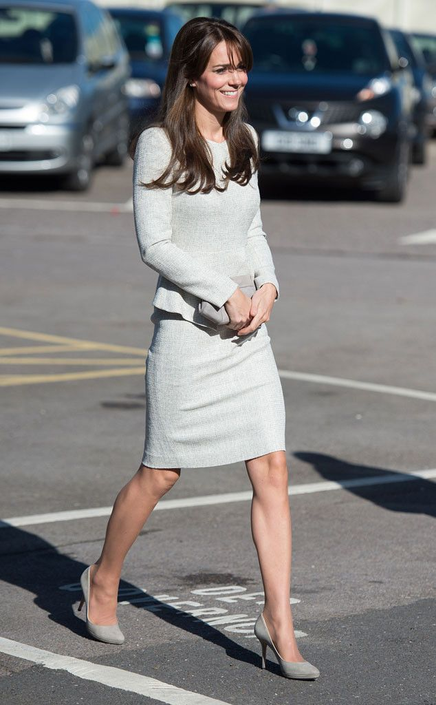 Kate Middleton Steps Out in Gorgeous Gray Dress for Her Latest Solo Public appearance.