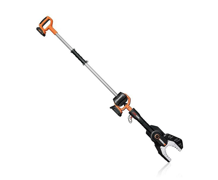 WORX JAWSAW 20V Max Lithium Cordless Chainsaw w/Extension Pole Battery + Charger #WORX