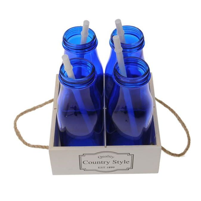 Stanford | Stanford Home 4 Pack Milk Bottle Crate  | Glassware