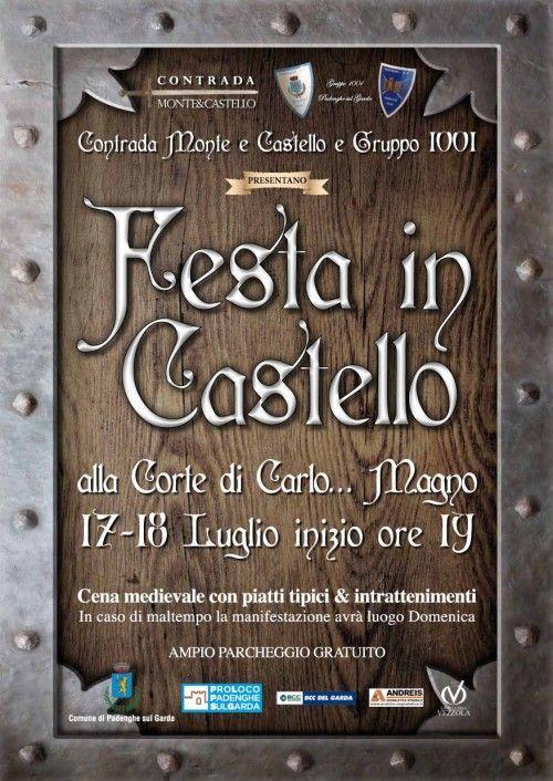 Il 17 e 18 luglio 2015 Padenghe sul Garda torna nel passato per la Festa in Castello @gardaconcierge