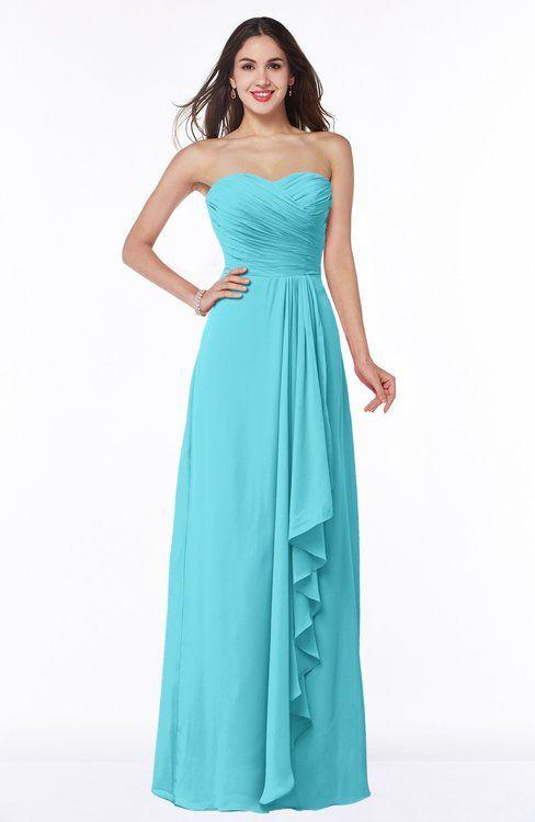 Classic A-line Zipper Chiffon Floor Length Plus Size Bridesmaid Dresses