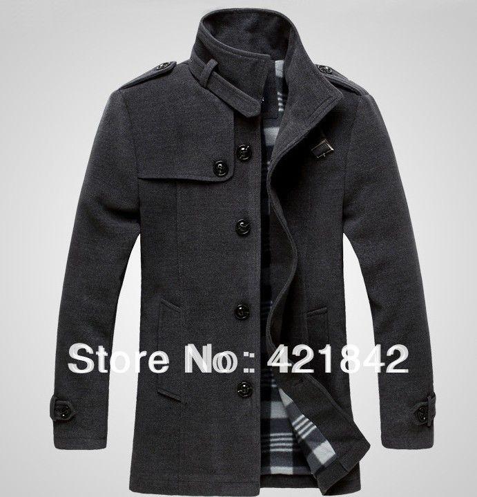 Dos homens quentes de inverno Casaco Masculino homens Casaco longo Casaco de lã Casaco Masculino marca Peacoat Sobretudo Masculino Ceket Marcas(China (Mainland))