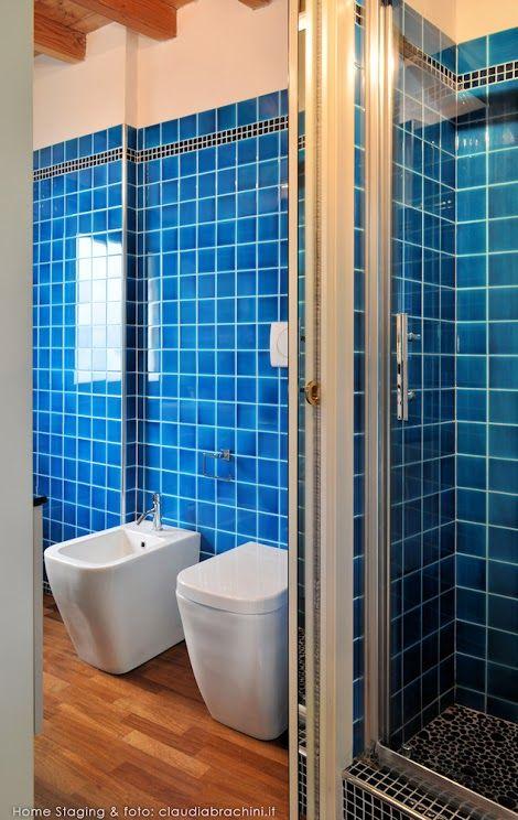 Oltre 20 migliori idee su bagno turchese su pinterest - Mosaico blu bagno ...