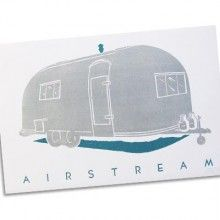 Airstream poster by Hatch Show Print-  i finally got this framed!