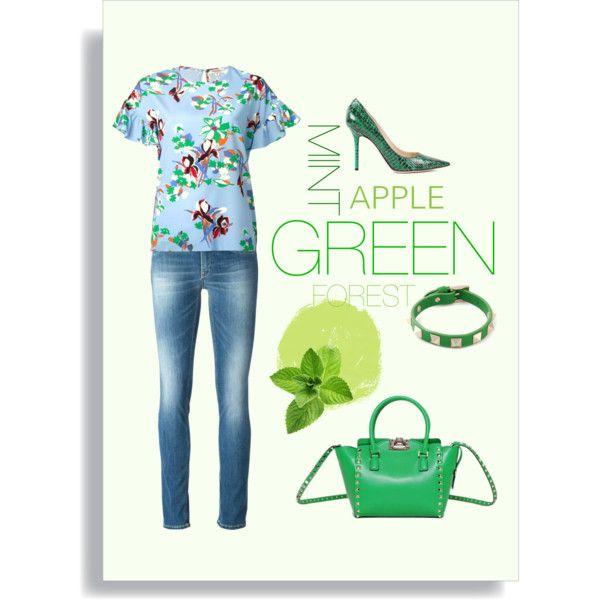 Green Look by spinnaker-sanremo-alassio-portofino on Polyvore featuring moda, P.A.R.O.S.H., Valentino and Philipp Plein