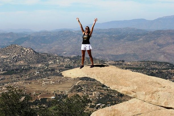 Potato Chip Rock, San Diego County, California — by RVLuckyorWhat. Potato Chip Rock is a crazy formation near the top of Mount Woodson in Ramona/Poway, CA.