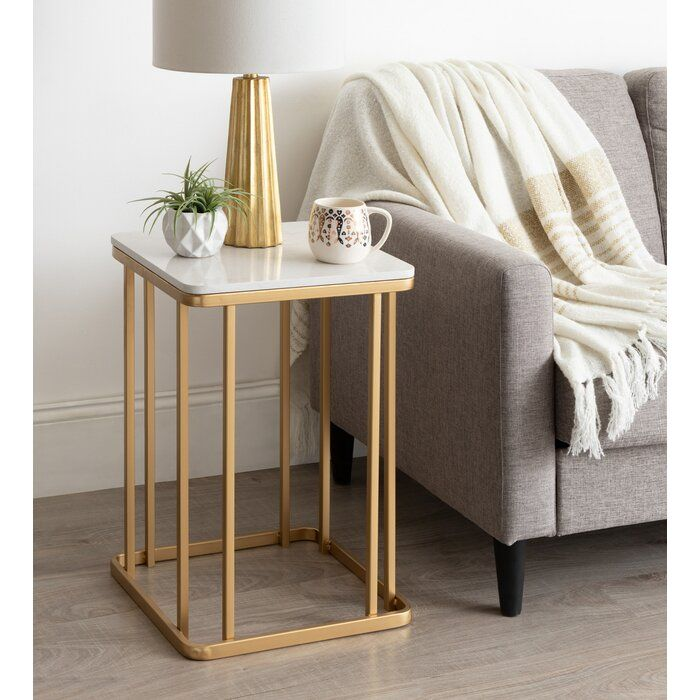 Isabel Frame End Table In 2021 Side Table Decor Table Decor Living Room Modern Side Table Decorative tables for living room