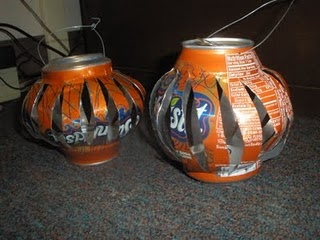 candle lanterns from soda pop cans: Candle Lanterns Sodas, Crafts Ideas, Dramas, Pop Cans, Cans Lanterns, Lanterns Sodas Pop, Recycled Crafts, Candles Lanterns, Crafty Ideas