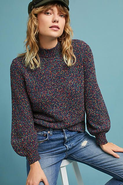 I love this sweater design. Seen Worn Kept Confetti Pullover  {this pin contains an affiliate link}