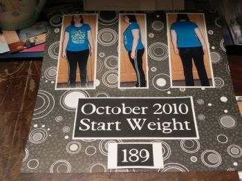 Love this >> End of phase 1 with weight loss scrapbook pictures!