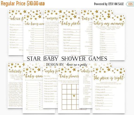 ON SALE Twinkle Twinkle Little Star Baby Shower by DrawMeAParty