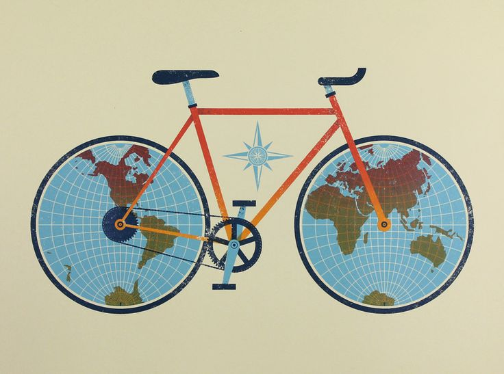 Bicycle Map by Jude Landry