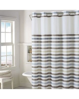 Hookless Hookless Hampton Multi Striped Shower Curtain With Liner