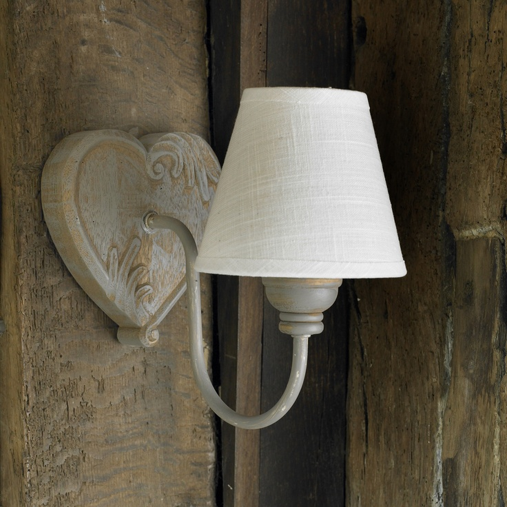 Rustic heart wall light