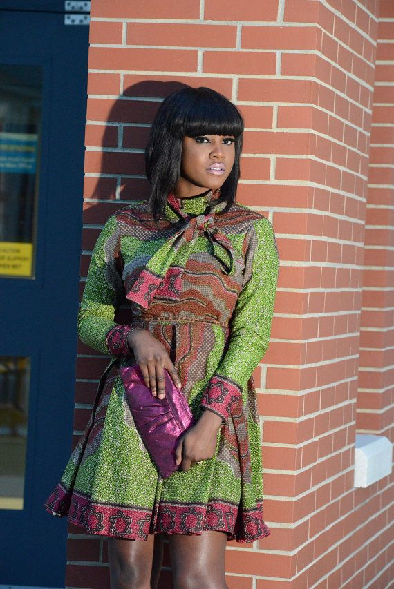 African Vintage wax print dress #ThomasStreetStudios https://www.youtube.com/watch?v=RbKsvGrK1NE