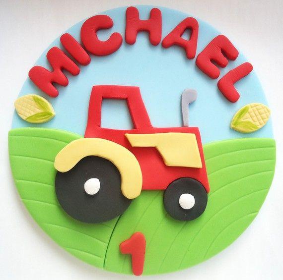 Fondant+Cake+Topper++Farm+Tractor+by+CakesAndKids+on+Etsy,+$25.00