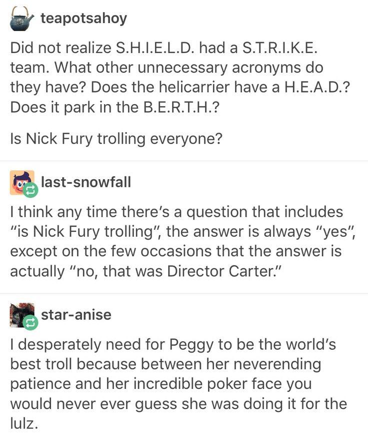 Nick fury director fury Peggy Carter marvel mcu avengers