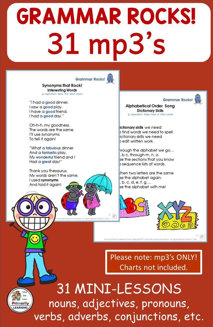 Grammar Songs Support Jolly Grammar With Images Grammar Skills Songs Grammar