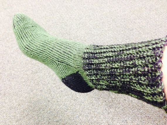 Best Tunisian Crochet Socks with Ribbed Cuff by backofabutterfly