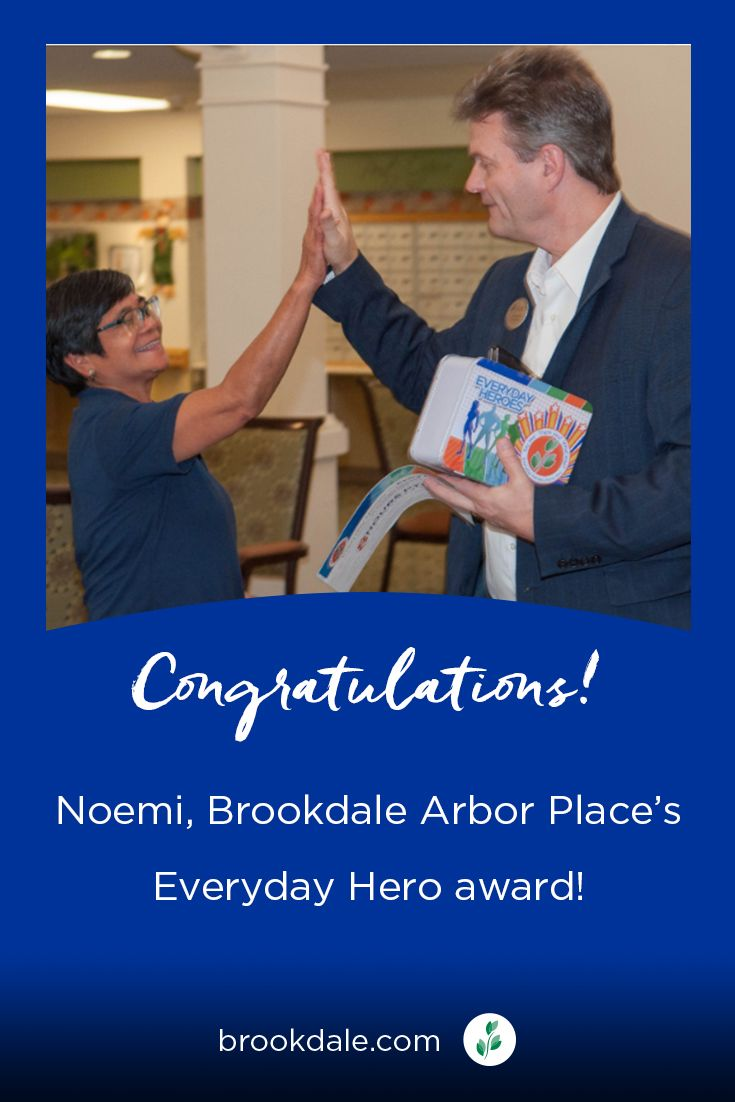 Noemi Has A Lot To Celebrate She Was Recently Recognized Within Her Community For Her Hard Work And Compassion She May Brookdale What Is Like Everyday Heroes