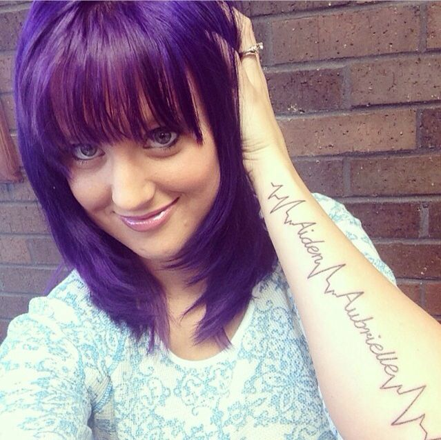 Purple hair awesome new tattoo