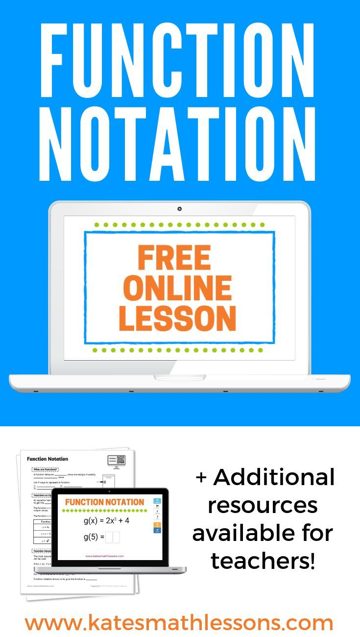 Function notation algebra lessons real life math