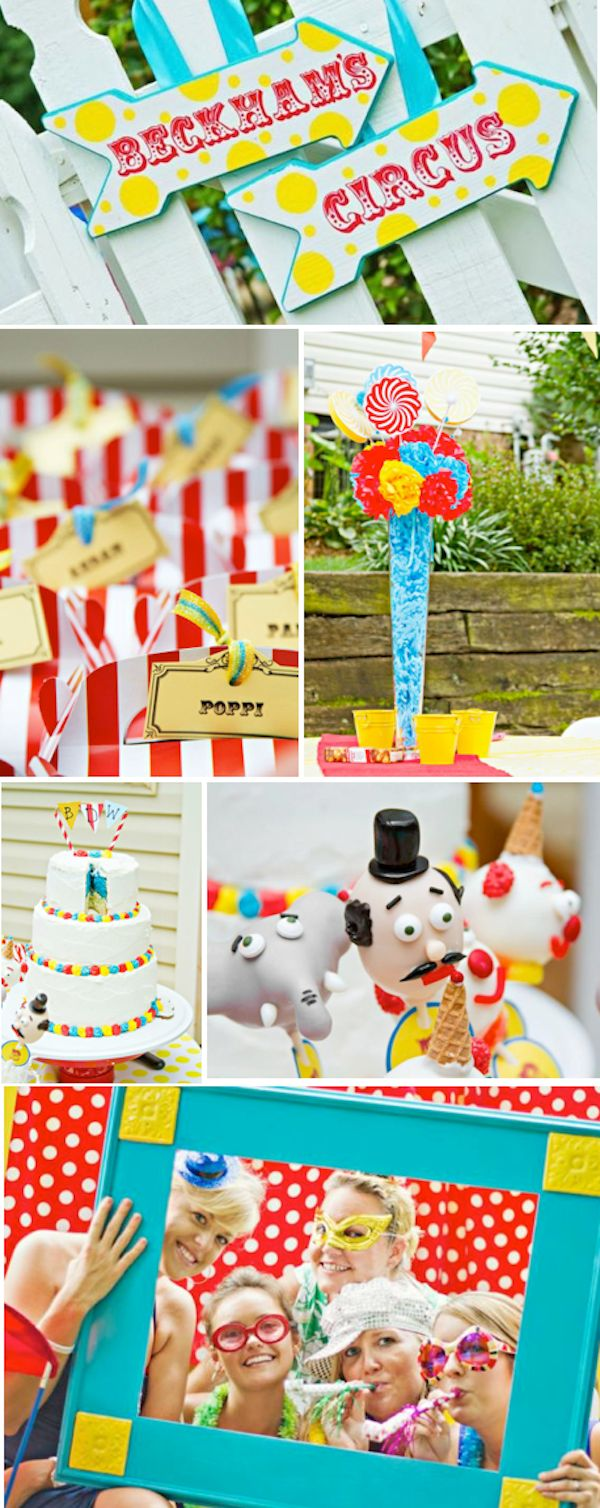 Circus Carnival Big Top themed birthday party