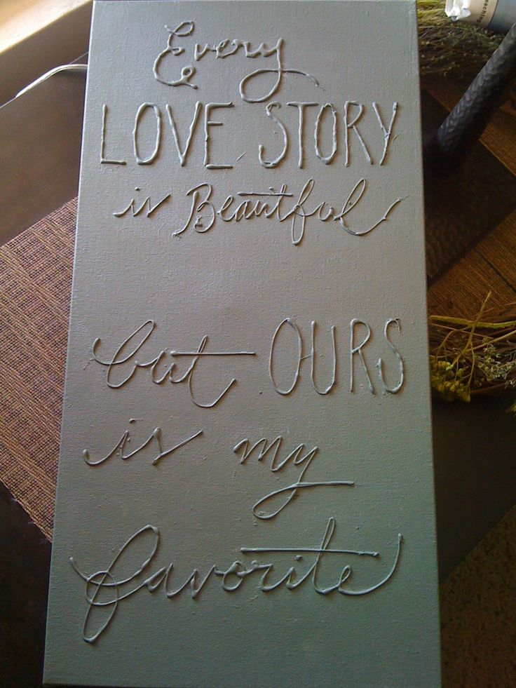 Hot glue gun/ canvas craft! Homemade wall art. I would definitely spray paint over it to make it look prettier afterwards.