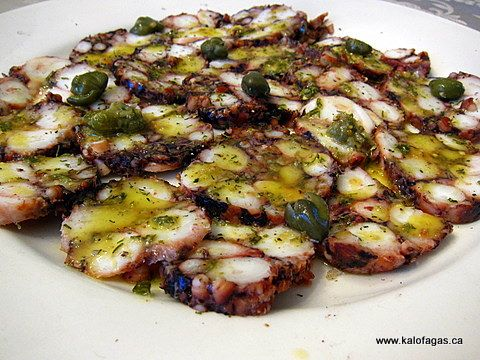 Greek Octopus Salad