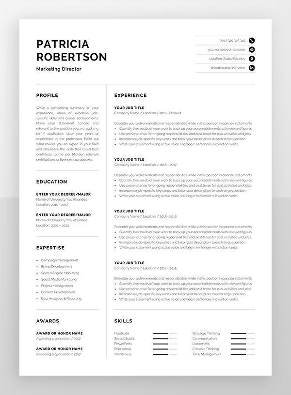 23 Classic Resume Design Professional 2019 En 2020 Disenos De Curriculum Vitae Hojas De Vida Creativas Diseno Curriculum