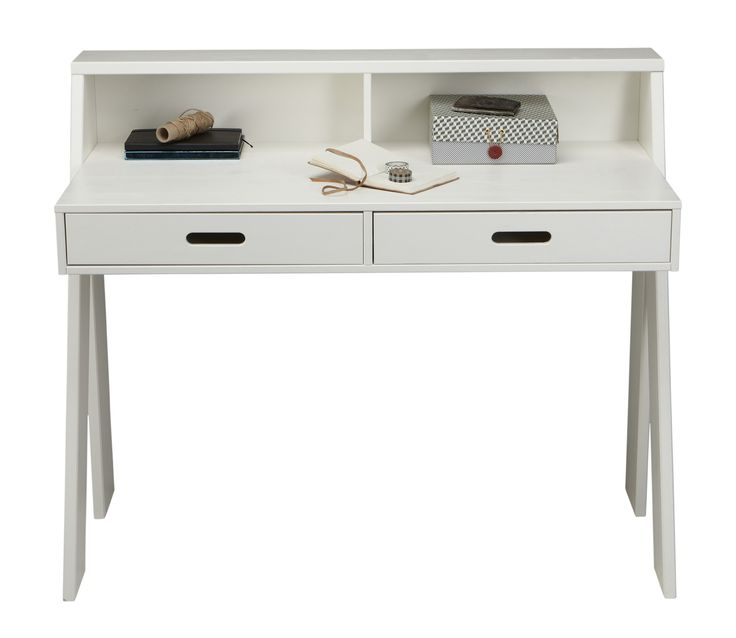 Woood Max bureau wit massief grenen - Wit