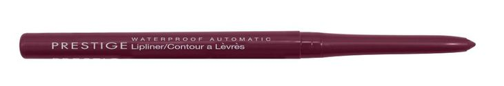Prestige Waterproof Automatic Lipliner, Plum, 0.009 Ounce. Waterproof, Not Animal Tested, Dermatologically Approved. To define lips, select a shade the same color or slightly deeper than your lipstick or lip gloss, and apply the lip line. Fill in with lipstick or lip gloss just covering the liner. retractable; never needs sharpening; long lasting wear; waterproof; not animal tested; dermatologically approved.
