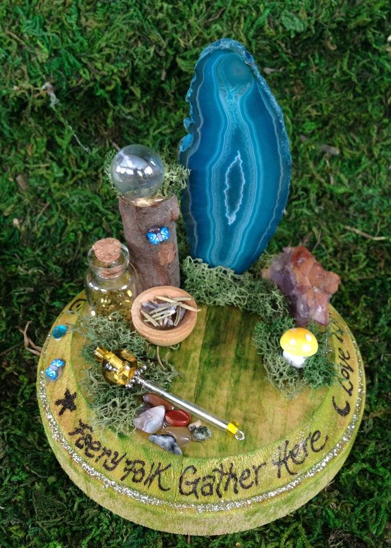 Miniature Fairy Altar Enchanted Fairy Ring by SpiritedWoodland, $18.95