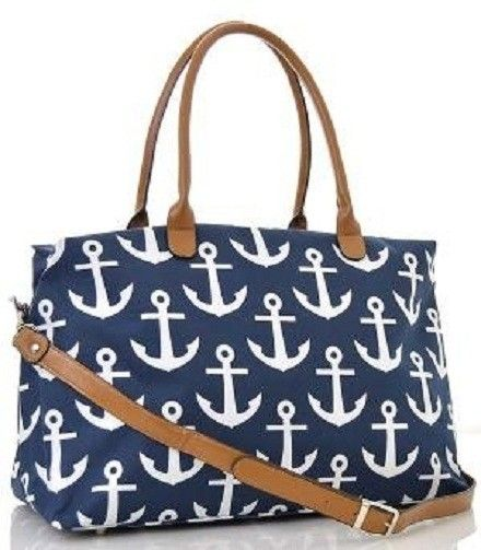 Nautical Anchor Print Canvas Blue And White Tote Bag. Get one of the hottest styles of the season! The Nautical Anchor Print Canvas Blue And White Tote Bag is a top 10 member favorite on Tradesy. Save on yours before they're sold out!