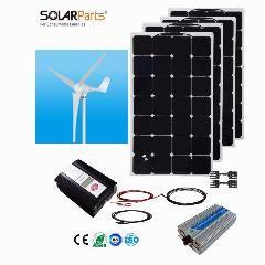 [ $272 OFF ] Boguang 1X 600W Wind Turbine+4X100W Solar Wind Hybrid Solar System Diy Kit Solar Panel Home House Module Mobile Dc 12V/24V Off G
