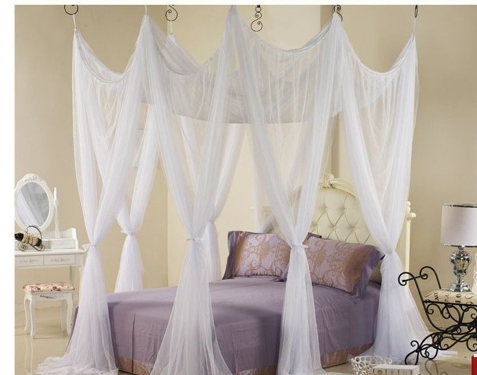 Find More Mosquito Net Information about 4 16 Corners Post Bed Curtain White Canopy Mosquito Net Mosquito 8 Door Bed Net Mosquiteiro Bed Tent,Ropa de cama,Luxury canopy,High Quality tent party,China canopy tent covers Suppliers, Cheap tent size from Fashion home textile on Aliexpress.com