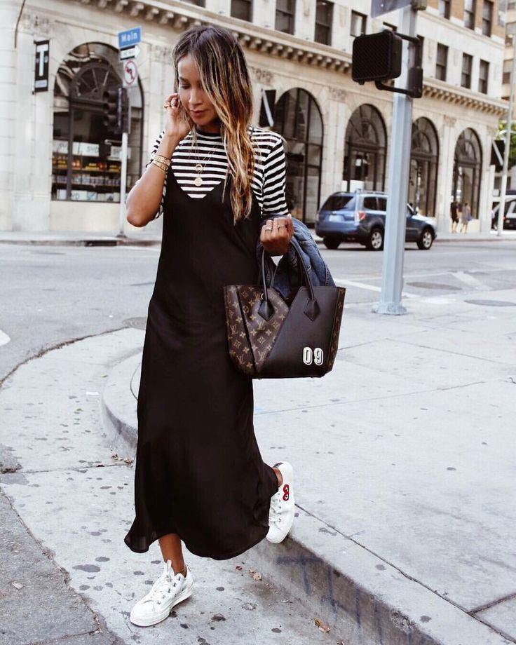 "JULIE SARIÑANA on Instagram: ""Off duty in DTLA. ❤️ / Charmer slip dress @shop_sincerelyjules / Shop now: shopsincerelyjules.com"""