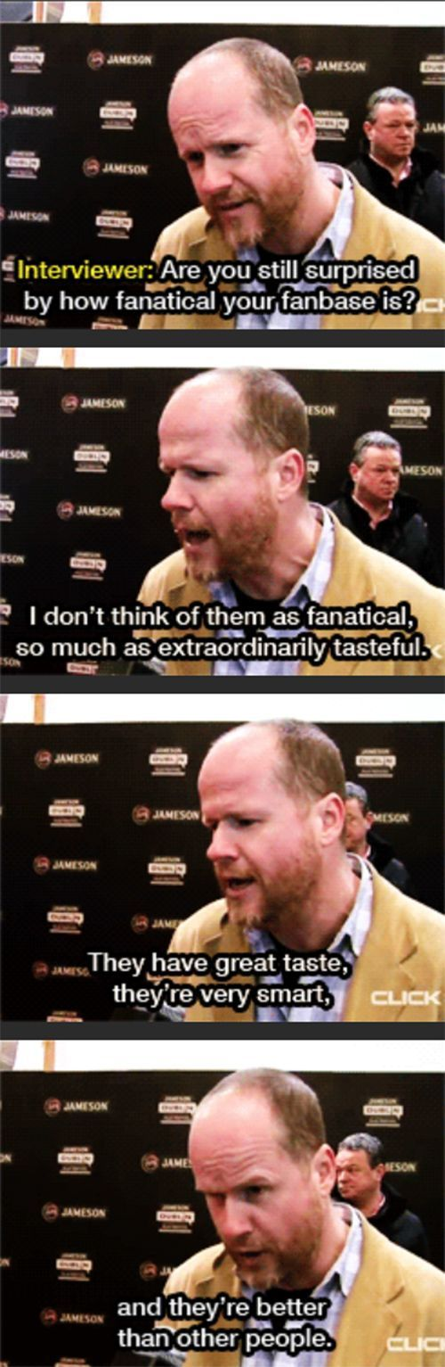 Just more proof that Joss Whedon is awesome.