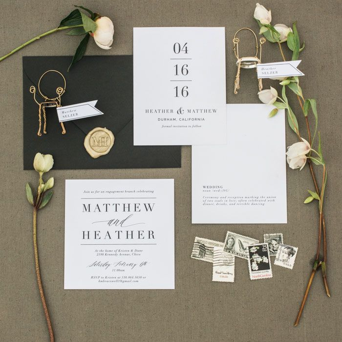 Best 25+ Modern Wedding Invitations Ideas On Pinterest