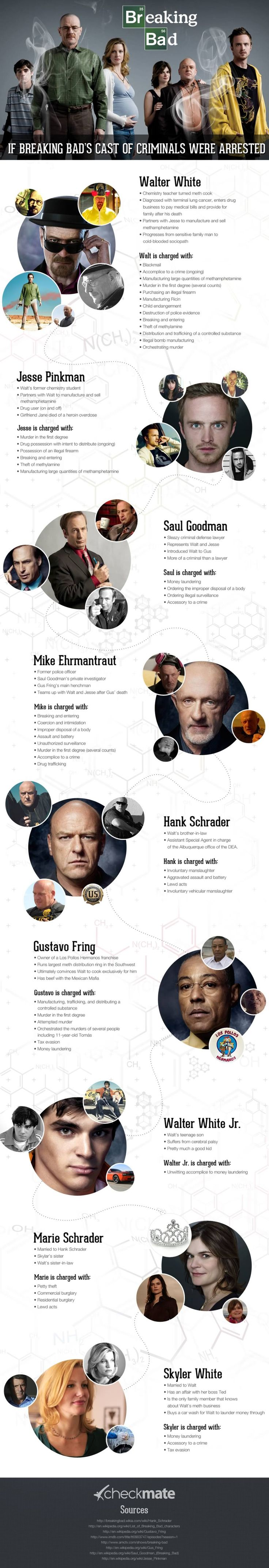 Charges on Breaking Bad characters