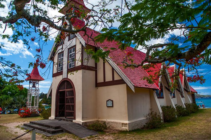 Mauritius Photograph - Mauritian Fishermen Church In Grand Baie by Jenny Rainbow