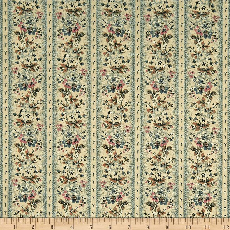 Andover Maling Road Victoria Vines Blue from @fabricdotcom Designed by Di Ford-Hall for Andover Fabrics, This cotton print fabric is perfect for quilting, apparel, and home decor accents. Colors include pink, brown, green, beige and black.