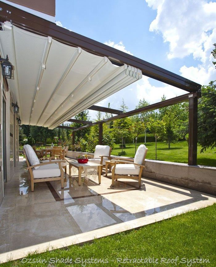 Retractable-roof-systems-Retractable Roof 6625e & Best 25+ Retractable pergola ideas on Pinterest | Deck awnings ... memphite.com