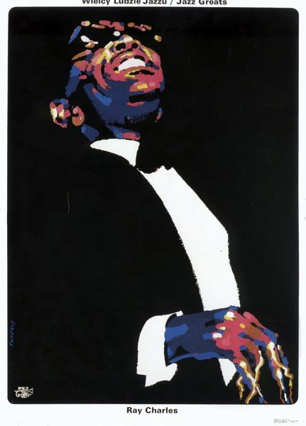 Ray Charles, Jazz Greats Ray Charles, Jazz Greats Swierzy Waldemar Polish Poster