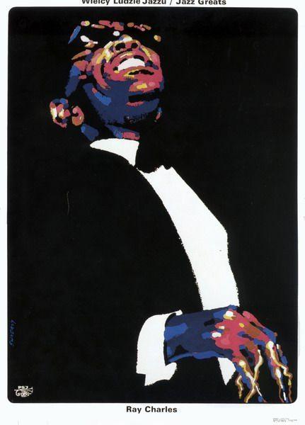 Ray Charles, Jazz Greats Ray Charles, Jazz Greats Swierzy Waldemar Polish Poster