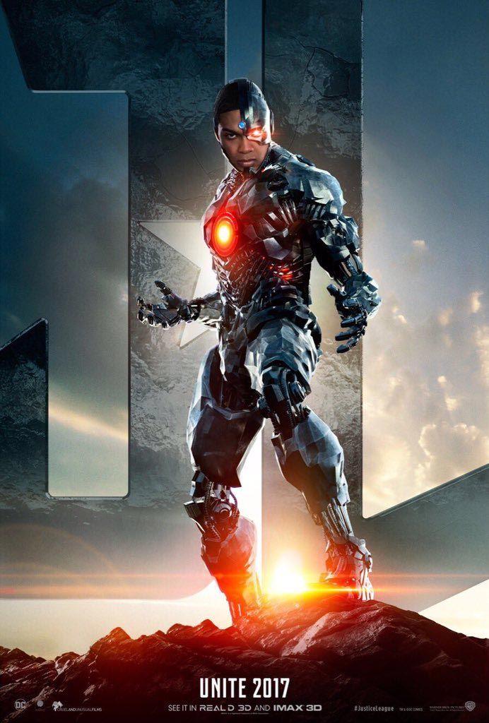 Poster de Cyborg joué par Ray Fisher pour Justice League