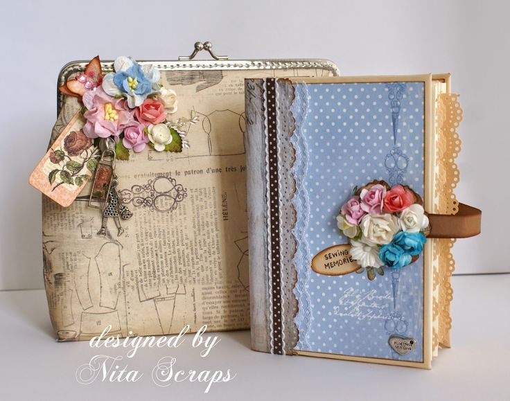"Nita Scraps: Mini Album ""Sewing Memories"" http://nita-scraps.blogspot.pt/"